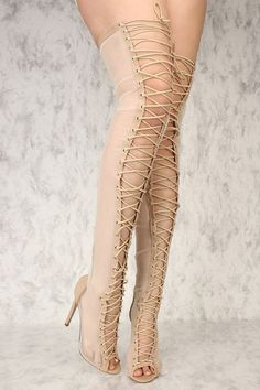 Boots are truly trendy and there is large choice from flat-heels to stilettos, wedges, and platforms, boots are whatever in between. Thigh High Boots Heels, Heeled Boots, Boot Heels, Over The Knee Boot Outfit, Sexy Boots, Thigh Highs, Leggings, Open Toe, Pumps