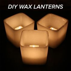 Brighten Up Your Home With These Gorgeous Glowing Lanterns Fun Crafts, Diy And Crafts, Diy Wax, Mirror With Lights, Diy Candles, Diy Hacks, Candle Making, Diy Beauty, Decorating Tips