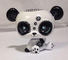Littlest pet shop * Doodle Bear * Custom Hand Painted LPS Panda OOAK #Hasbro