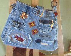 Bourse fait main avec vieux jeans by TICTAC1212 on Etsy
