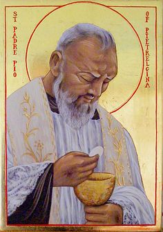 Icons - Saints - The Studio of John the Baptist : sacredart.co.nz ~ St. Padre Pio
