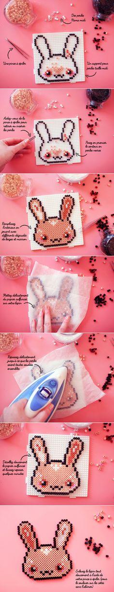 Hama Perler Bead Bunny