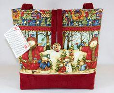 WINTER SNOWMAN CHRISTMAS HANDMADE TOTE BAG, HANDBAG, PURSE ~CUTE~ | eBay