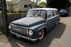 Old Parked Cars.: 1965 Slammed International Harvester Travelall.