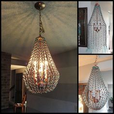 Use Dollar Store Beads To Make Your Own Schmancy Chandelier