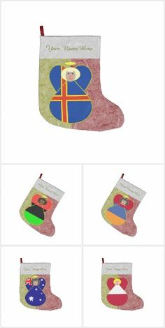 Angel Flags Stockings for Christmas