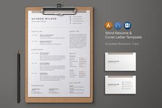 Resume/CV by Designsbird on @creativemarket