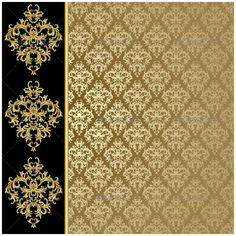 Buy Golden background by ElenaShow on GraphicRiver. Black and golden background with abstract plant. Golden Background, Frame Background, Background Patterns, Gold Wallpaper, Wallpaper Backgrounds, Wallpaper Decor, Abstract Backgrounds, Illustration Noel, Illustrations