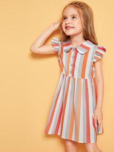 Baby Dress Design, Frock Design, Girls Maxi Dresses, Toddler Girl Dresses, Outfits Niños, Kids Outfits, Fashion Design For Kids, Kids Fashion, Baby Girl Boutique