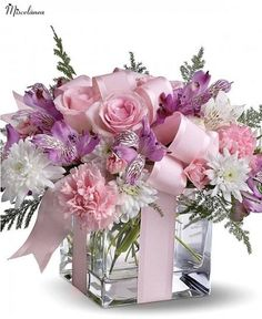 Order Teleflora's Precious Love Mixed bouquet from Jeannettes Flowers, your local Campbell florist. For fresh and fast flower delivery throughout Campbell, CA area. Beautiful Flower Arrangements, Silk Flowers, Beautiful Flowers, Flowers Gif, Lavender Flowers, Vase Arrangements, Floral Centerpieces, Centrepieces, Funeral Flowers