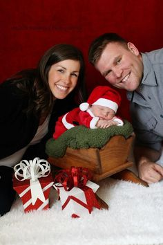 Christmas, newborn photography, newborn