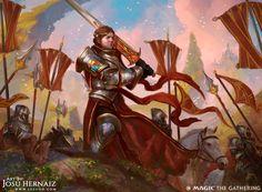 Knight of New Benalia - MTG Dominaria AD Mark Winters Knight of New Benalia Dragon Knight, Knight Art, Fantasy Paintings, Fantasy Artwork, Space Fantasy, Watercolor Paintings, Medieval, Mtg Art, High Fantasy