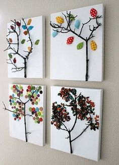 twig trees. #fall #diy #crafts #home decor #Kids