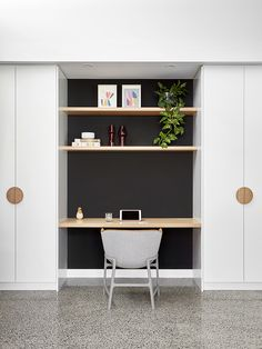 Gallery Of Lean 2 By Ben Callery Architects In Melbourne, Vic, Australia home office Desk Nook, Office Nook, Home Office Space, Home Office Decor, Home Decor, Small Office, Computer Nook, Desk Space, Office Ideas