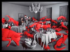 Fox Games by Sandy Skoglund