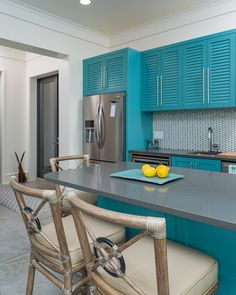 turquoise kitchen | CDC Woodworking