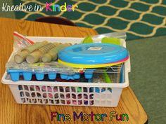 Fine Motor Fun! TONS of great ideas for fine motor activities in your kindergarten classroom! - Kreative in Life