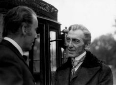 Peter Cushing & Christopher Lee, Behind The Scenes. Dracula A.D. 1972.