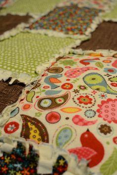 Rag quilt made even simpler.