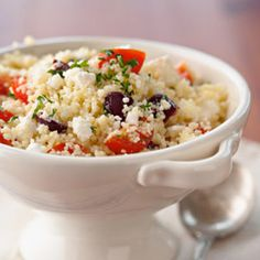 Couscous Salad with Feta, Tomato, and Olives — Looks like a nice, easy salad....