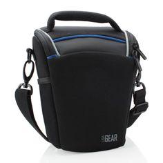 USA Gear - Funda Bolsa Neopreno Cámaras Reflex - Compatible con Pentax K-5II / Canon EOS 100D, 700D / Sony Alpha SLT-A58 / Nikon D3200 con 18-135mm, 18-55mm.... ¡y más! - ** Protección Impermeable Incluida - **