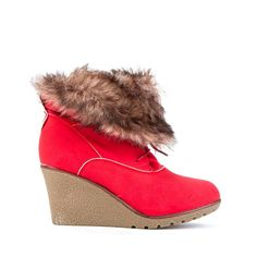 Womens Ladies Red Faux Fur Mid Wedge Heel Lace Up Shoes Ankle Boots Size 7 New    Click On Link To Visit My Ebay Shop  http://stores.ebay.co.uk/all-about-feet  Useful Info: - Standard Size - Standard Fit - By Emilia Shoes  - Red In Colour - Heel Height: 3 Inches - Faux Fur Cuff - Lace Up Front - Textile Lining #boots #shoes #red #ankleboots #laceup #wedge #wedges #fauxfur #fashion #footwear #forsale #womens #ladies #ebay #ebayseller #ebayshop #ebaystore