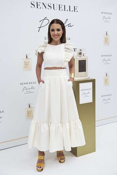 Paula Echevarria presents her new fragance 'Sensuelle' at Gran Melia Palacio de los Duques on April 5, 2017 in Madrid, Spain.