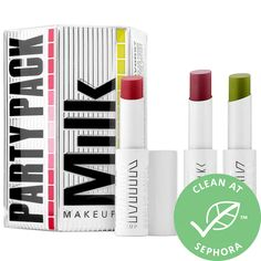 Party Pack KUSH Lip Balm Trio - MILK MAKEUP | Sephora Milk Makeup Sephora, Makeup Boutique, Dior Lip Glow, Makeup Gift Sets, Moringa Oil, Party Packs, Party Makeup, Best Makeup Products, Face Products