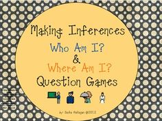 Make Interferences! Who am I? & Where am I? Question Games {each game includes 24 cards, a score card, direction card, and labels} by theautismhelper.com