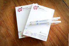 Blocnota's en balpennen voor onze klant Alzheimer Liga Vlaanderen  www.twindesignbvba.be