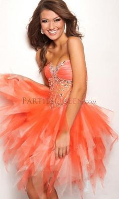 Ball Gown Sweetheart Cascading Ruffles Tulle Cocktail Party Dress - Homecoming Dresses - Prom Dresses
