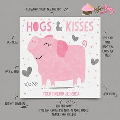 INSTANT DOWNLOAD  EDITABLE Valentine's day Card by CutePartyDash