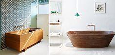 Bañeras de madera, piezas de lujo - http://www.decoora.com/baneras-de-madera-piezas-de-lujo.html