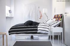 Lada GIMSE îți transformă spațiul de sub pat într-un loc numai bun de depozitare. www.IKEA.ro/lada_GIMSE