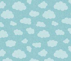 clouds_BLUE fabric by glorydaze on Spoonflower - custom fabric