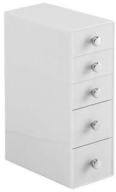 InterDesign 5 Drawer Desktop Storage Unit - White