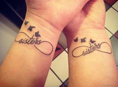 Nice Sisters Tattoo On Wrist