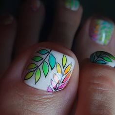 Image may contain: one or more people and closeup Pedicure Designs, Pedicure Nail Art, Toe Nail Designs, Nail Polish Designs, Toe Nail Art, Manicure, Pretty Toe Nails, Cute Toe Nails, Dope Nails