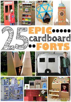 25 Epic Cardboard Forts – Page 13 – Play Ideas Cardboard Box Fort, Cardboard Houses For Kids, Cardboard Box Crafts, Cardboard Tubes, Cardboard Furniture, Diy Fort, Build A Fort, Fun Activities For Kids, Preschool Ideas