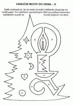 Vystřihovánka do okna 2 - strom se svíčkou (obrázek) / Kutění a bastlení před Vánoci / Vánoce | Pastorace.cz