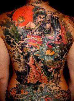 Unreal geisha back piece