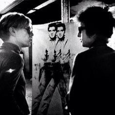 the factory Bob Dylan & Andy Warhol