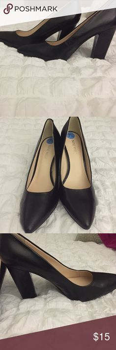 Gorgeous pumps Ladies, these shoes were worn once and lived in the back of my closet until now. They can be worn to work, church etc. black pumps never go out of style💕 Nine West Shoes Heels