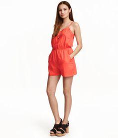 Jumpsuit with Short Legs | Orange | Ladies | H&M US
