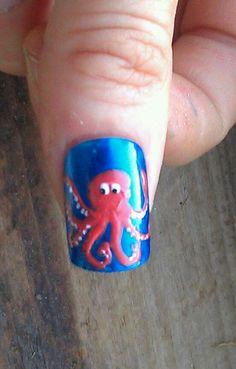 My octopus nail art