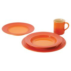 Found it at Wayfair - Le Creuset 4 Piece Place Setting  Beautiful!