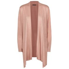 Eileen Fisher Open Front Silk-Linen Cardigan ($325) ❤ liked on Polyvore featuring tops, cardigans, drape cardigan, linen tops, lightweight cardigan, sheer top and longline cardigan