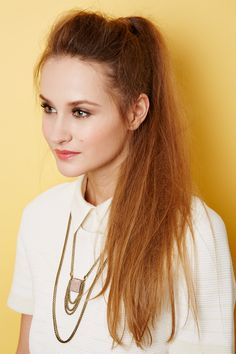 "2 Insanely Perfect Hairstyles To Try Now #refinery29  http://www.refinery29.com/long-hair-tips#slide7  ""You want it to be kind of nest-y looking but romantic,"" says Baker. ""Like, a romantic love nest of hair."" Word."