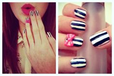 Stripe Nails   http://nailsbymellissa.blogspot.co.uk/  Follow for unique nail designs.