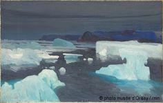 Alexandre Sergejewitsch Borisoff, Les glaciers, mer de Kara, 1906, huile sur toile, musée d'Orsay, Paris